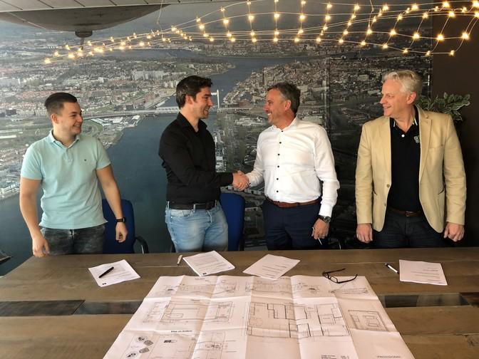 Contract getekend voor de bouw van een duwboot voor Koninklijke Van der Wees  Concordia Damen
