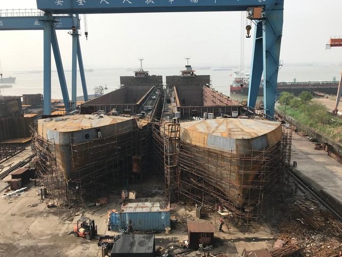 Bouwvooruitgang 10.000ton schepen Concordia Group