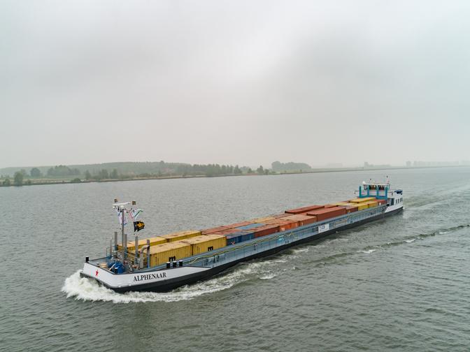 Geslaagde proefvaart ms Alphenaar Concordia Damen