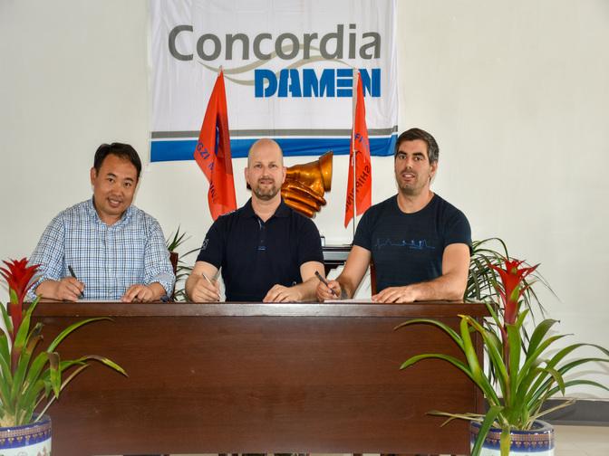 Concordia Damen levert nieuw ponton aan HAPO Barges Concordia Damen