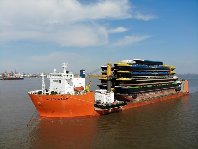 CONCORDIA DAMEN SHIPS 18 HULLS FROM SHANGHAI TO ROTTERDAM Concordia Damen